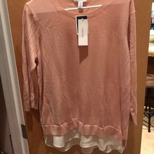 Calvin Klein blush blouse size L new with tags